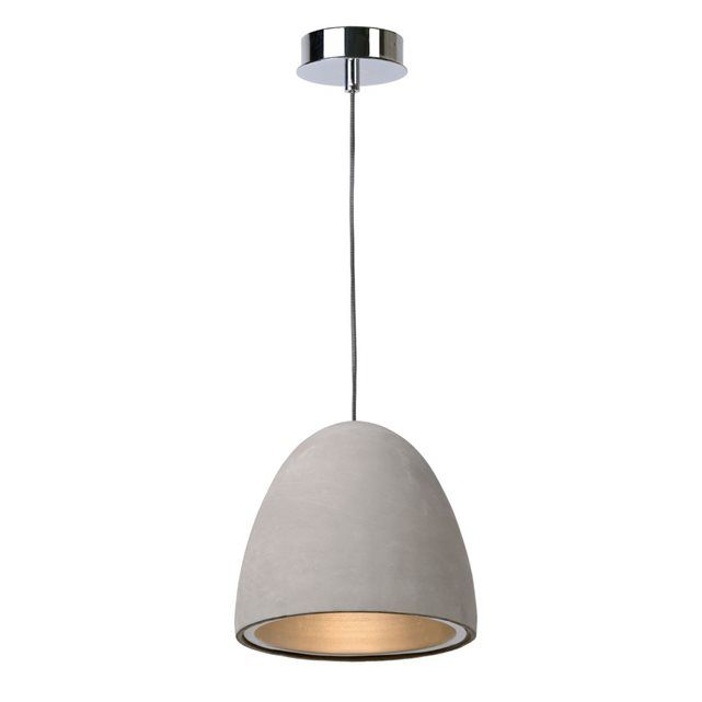 SOLO - Suspension Béton Taupe Ø21cm - Suspension Lucide designé par
