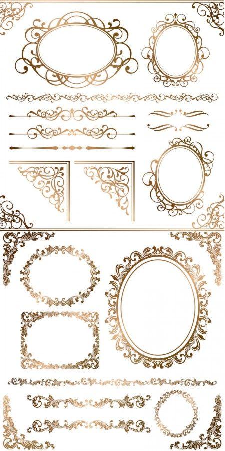Free-gold-ornamental-frames-borders-corners-vector