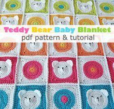 Modèle de couverture de bébé ourson au Crochet pdf & par DadasPlace