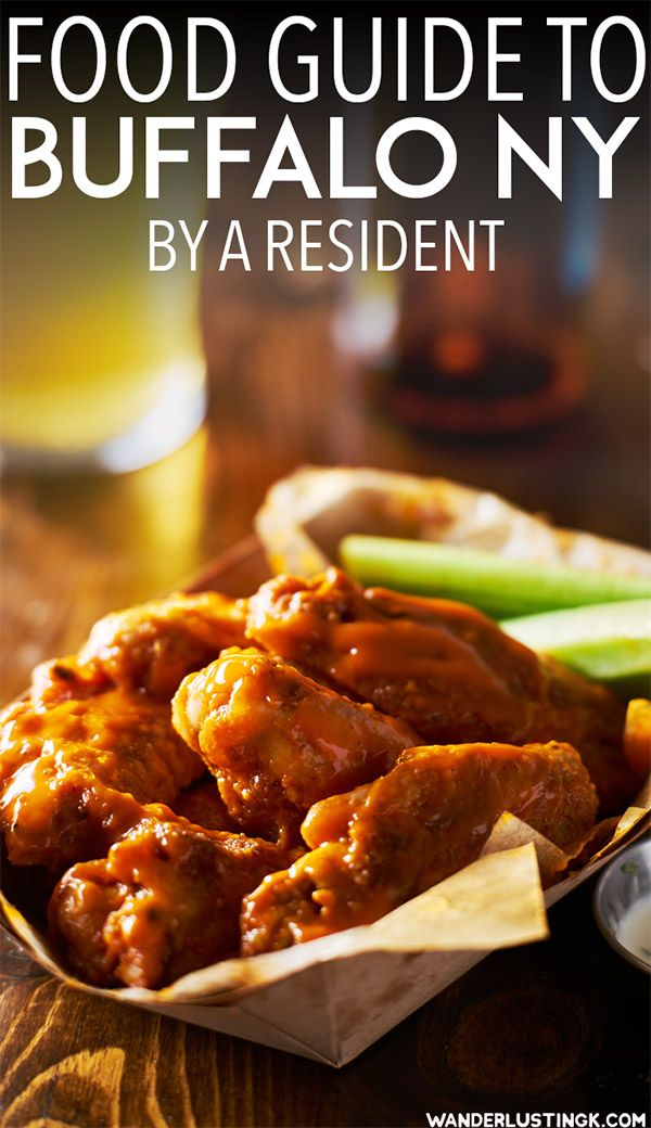 Visiting Buffalo NY? Your food guide to Buffalo written by a resident with the best places to eat in Buffalo, food that you must try in Buffalo, and where to find the best Buffalo wings in Buffalo. #travel #Buffalo #WNY #NY #USA #food #WesternNY