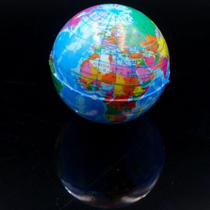 Brief Earth Globe Stress Relief Bou Foam Ball World Geography Map Ball