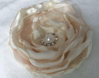 Rosa Haaren Clip Blume Hochzeit Blume von DianasDreamFlowers