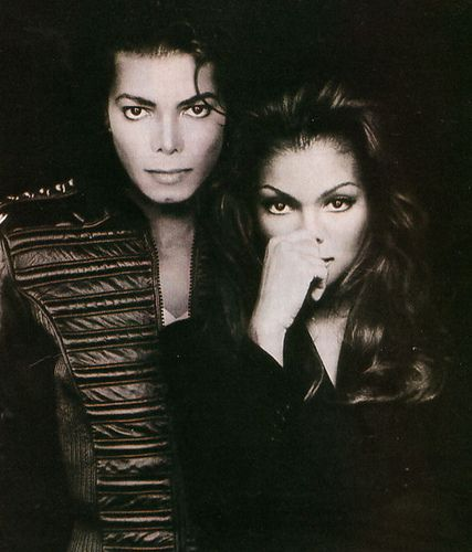 Michael Jackson Janet Jackson I like how the pic looks .... I looks cool. To me idk y but :)