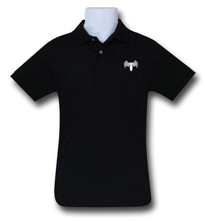 Images of Venom Symbol Black Polo T-Shirt