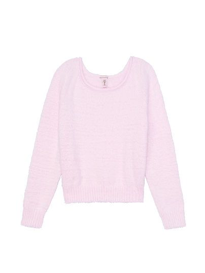 Victorias Secret Fuzzy Sweater In Pastel Pink Vspink Sweater