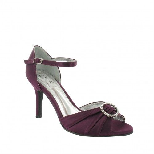 Sandalias de Novia o Fiesta Peep Toe modelo Sherlina Berenjena de Lexus Shoes ➡️ #LosZapatosdetuBoda #Boda