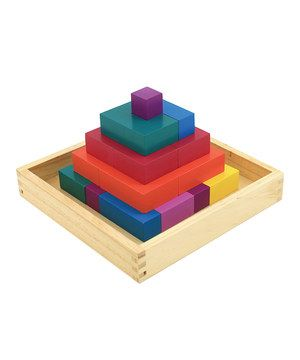 This toy is good as a puzzle, and for free block building as well. Blocks come in plenty of vibrant colors and sizes, and the puzzle fits together in a variety of ways.