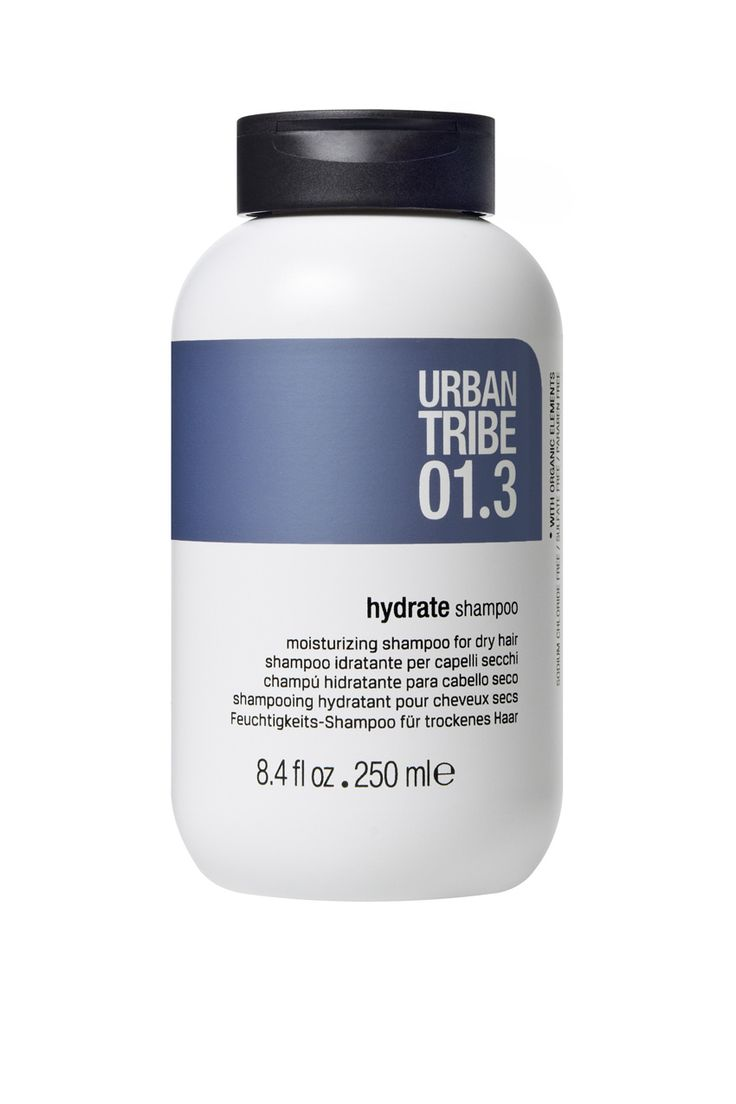 The new Urban Tribe haircare 01.3 hydrate shampoo, leaves #hair full of body, manageable and vibrant. #beauty