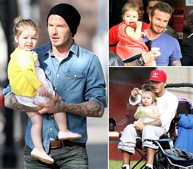 Harper Beckham's Life With Dad David Beckham: Her First Two Years in Pictures: Harper Beckham: Her Life in Daddy's Arms