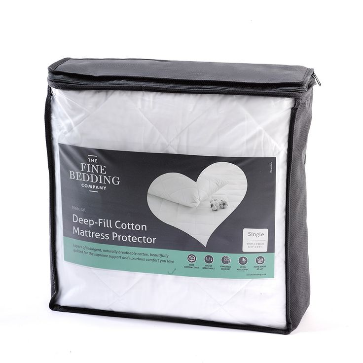 The Fine Bedding Company Luxury Deep Fill Mattress Protectors Are Filled With High Quality Cotton Wadding Superb Comfort And Value For Money