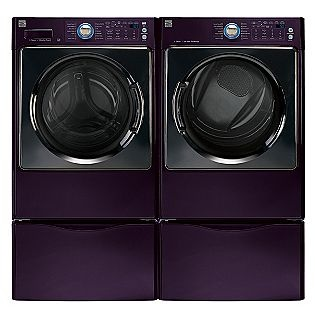 Kenmore Elite front loading washer & dryer. They're dark purple. Could someone buy these for me, now? #want