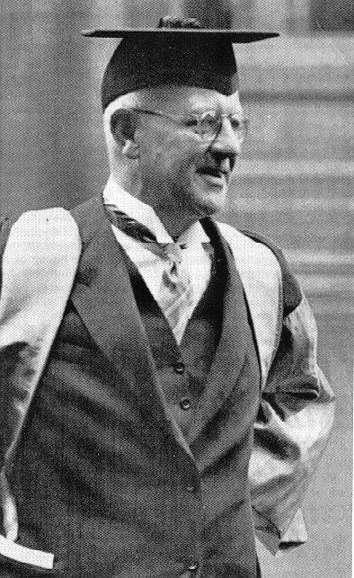 P.G. Wodehouse receiving his honorary doctorate from Oxford University, where he unfortunately wasn't able to attend when he was young due to financial constraints