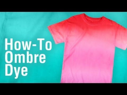 In this video Lauri Eaton shows you step by step how to create a super cool Ombre Tie Dye Tee. Using Tulip One Step Tie Dye Kit and a large paint brush you c...