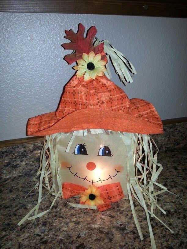 Glass block Scarecrow I made