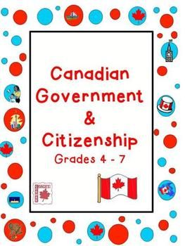 Canadian Government and Citizenship - 5 month unit for grades 4-7 covering levels of gov't, elections, mapping, immigration, etc. $