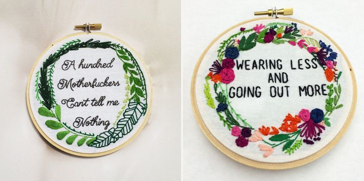 Feminist Embroidery by Yes Stitch Yes - Cool Hunting