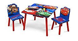 Delta Children's Products – Disney Pixar's Cars Table and Chair Set W/Storage by 5Star-TD