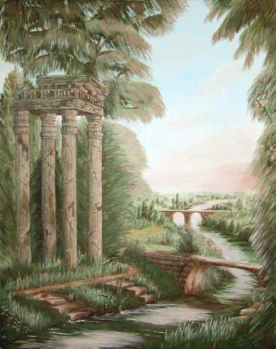"""History"" - acrylic painting by Sheryl Gallant - http://sherylgallant.ca"