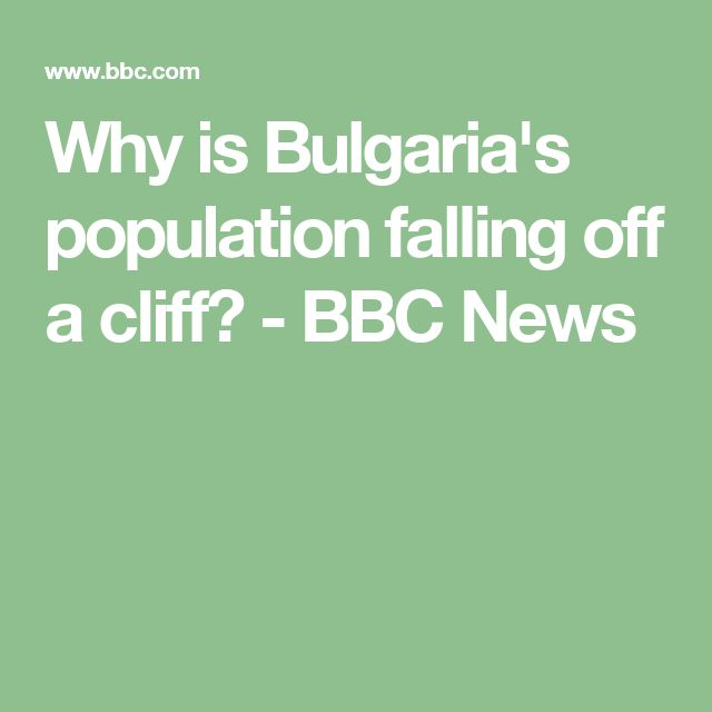 Why is Bulgaria's population falling off a cliff? - BBC News