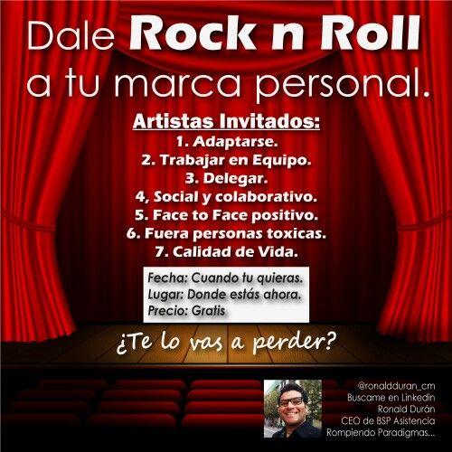 """Dale Rock n Roll a tu Vida"" http://t.co/kXT2DdHPzp vía @ronaldduran_cm #MarcaPersonal http://t.co/YhTJPm2xEl  #Liderazgo #Marcapersonal #rrhh #emprendedores #emprender #lider #ceo #personalbranding #recursoshumanos #empleo #trabajo"