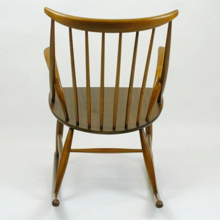 Scandinavian Rocking Chair by Illum Wikkelsö 4