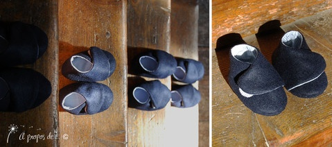 Petits pieds bleus Cute handmade baby shoes by Atelier Faggi Italy