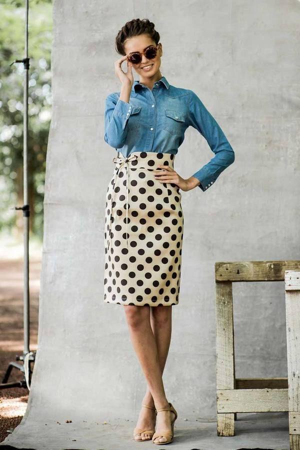 Shabby Apple Dot Skirt