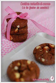 La Dinette de Nelly: Cookies noisette et cacao à la farine de souchet { Sans gluten et à IG bas }