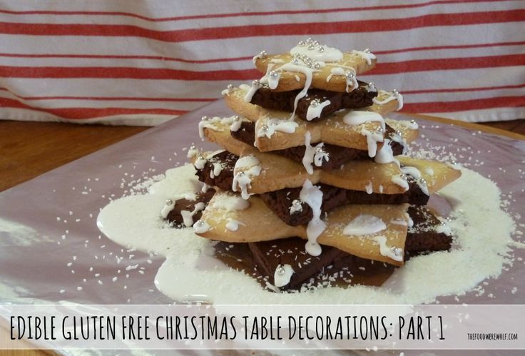 edible gluten free shortbread christmas tree recipe, templates and instructions #thefoodwerewolf.com #glutenfree #christmastree #shortbread