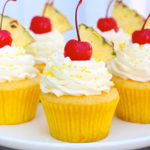 Sehen diese nicht nur wie Sommer aus? Ananastorte mit Frischkäse-Zuckerguss  € … – cake making