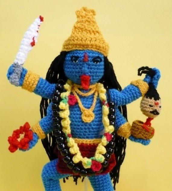 Christmas in July Sale (Was USD5.00) PDF Crochet Amigurumi Pattern - Hindu Goddess Kali