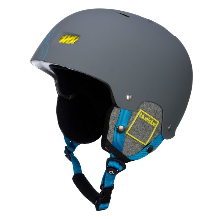 Bluetribe Cool kid ski helmet, kids, grey Cool ski helmet for kids Cool ski helmet for cool ski-kids! The ski helmet is light weigh and strongt, due to the ABS shell technology. You can wear a goggle with the ski helmet.   This is a real cool ski helmet for the small skiers!