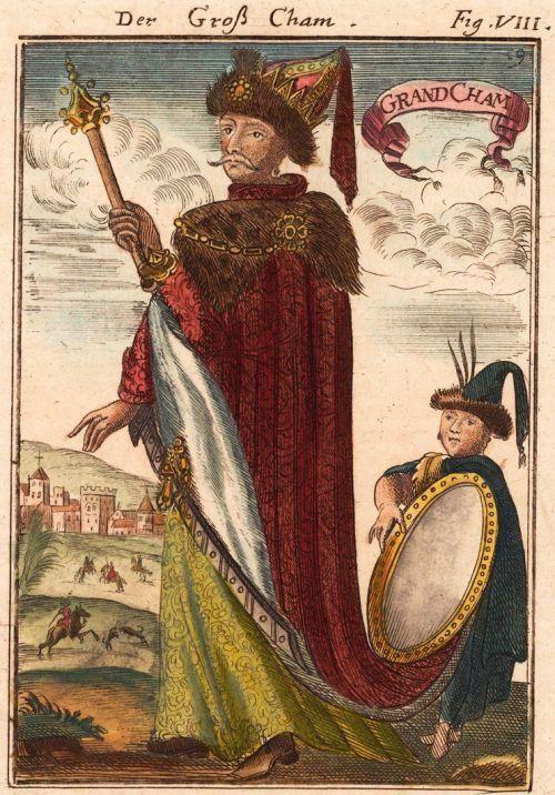 ТартАрия - империя, которую скрыли? | Дм.Белоусов французская гравюра 1685 года с изображением императора Тартарии:
