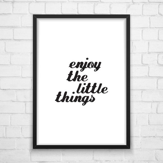 Printable Wall Art Enjoy Modern Graphic от MotivationalThoughts