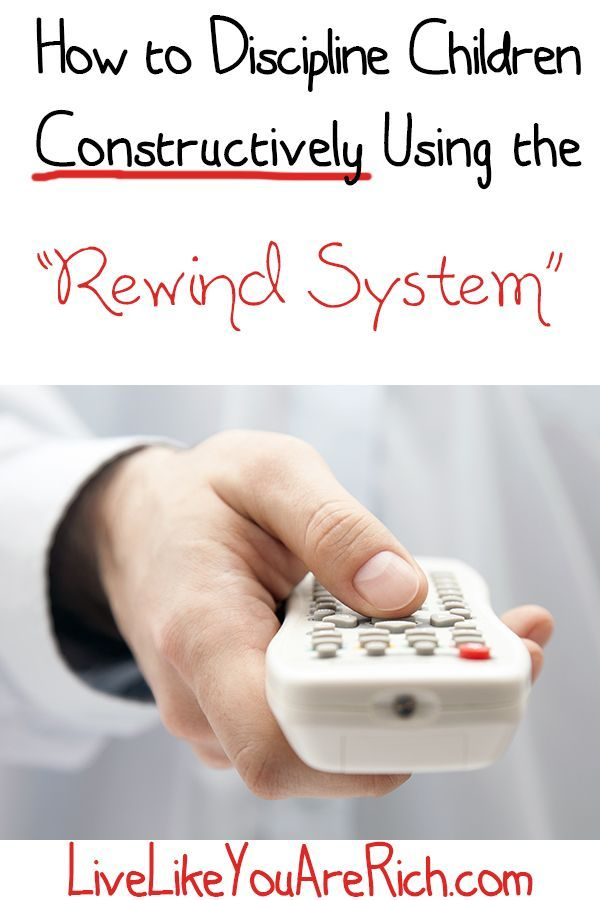 "How to Discipline Children Constructively Using The ""Rewind System"""