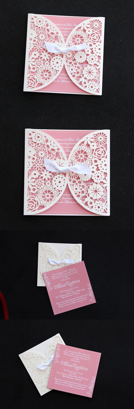 paper cut wedding invitations uk%0A Blush Pink Bridal shower invitations