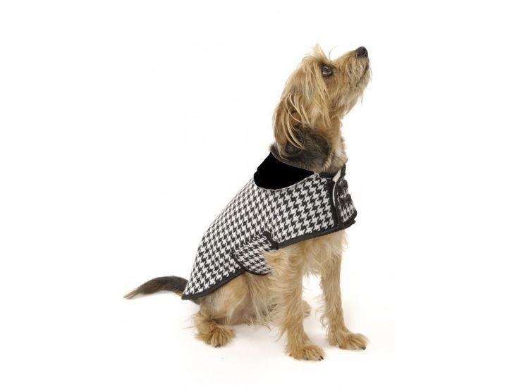 Dogtooth Check Dog Coat