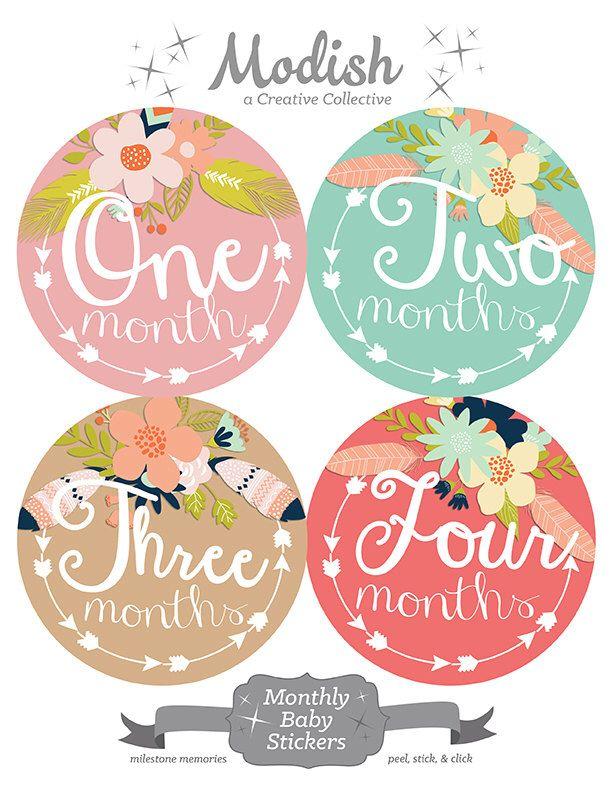 Pin By Peyton Jordan On Emma Rae Baby Month Stickers
