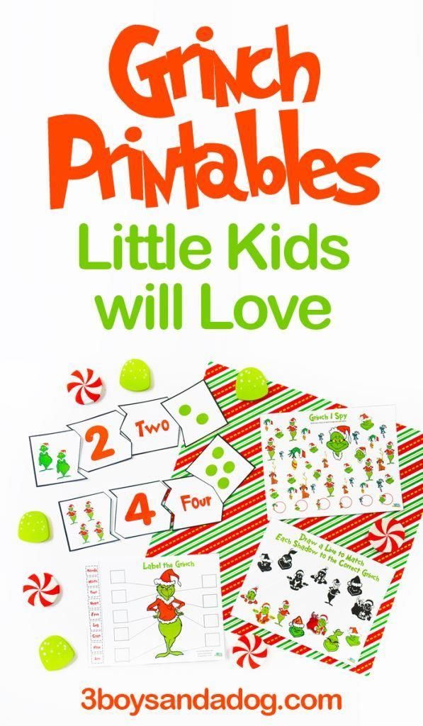 How The Grinch Stole Christmas Printables Grinch Crafts