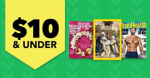 From sports to fashion to celebrity magazines and more, get great deals on subscriptions for just $10 and under!