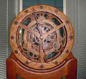 7 Free Wooden Gear Clock Plans for You Eccentric, Masochist Woodworkers  