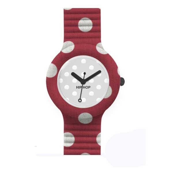 Come resistere ai pois? Inseriti in questo orologio Hip Hop creano un oggetto che è impossibile non avere! Con quadrante di 32 mm, cinturino in silicone rosso