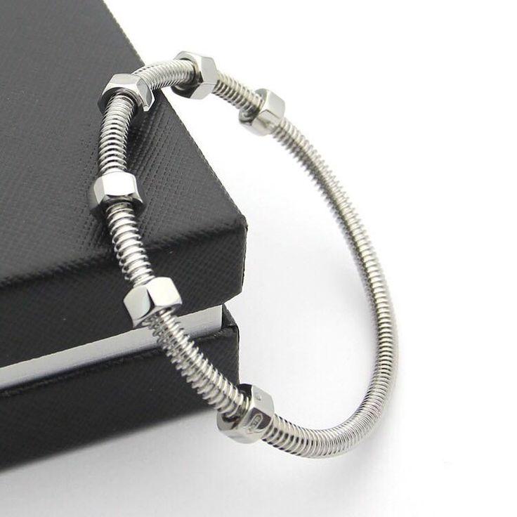 BeadyBoutique Love Bracelet Screws and Bolts White Gold
