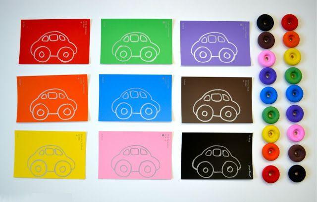 1000 идей чем занять детей: Цветные машинки: комбинируем по цветам