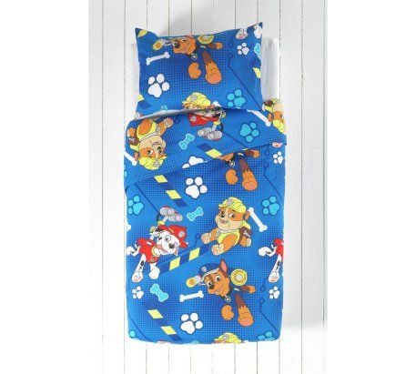 Paw Patrol Bedding set. Duvet and Pillow. I love this affordable bedding from Argos. Perfect for your little boy or toddler's bedroom.