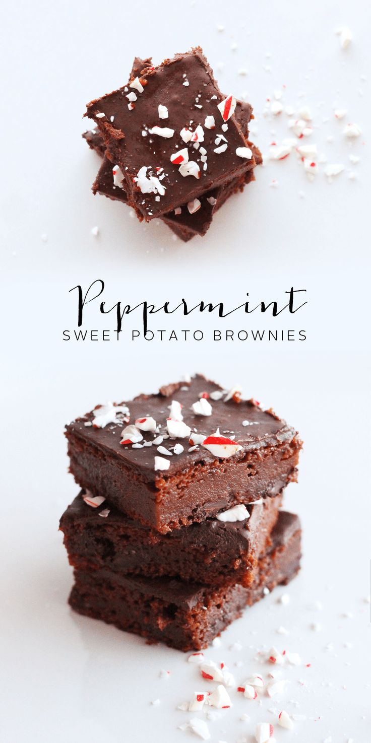 Clean Peppermint Brownie recipe that are paleo friendly! A perfect paleo holiday dessert!
