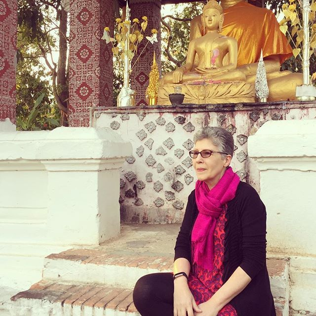 Hello March Meet the Maker this is me! Not at my studio in London (though you can see me there if you scroll down on the feed) but in Luang Prabang on holiday a few weeks ago. I love travelling and I try to go somewhere new once a year usually in the Winter. I loved the colours the many temples and the landscape of Laos Bhutan and Cambodia - plenty of inspiration that Im sure will filter into the work at some point. This is my very first Instagram challenge (!) and I look forward to meeting…