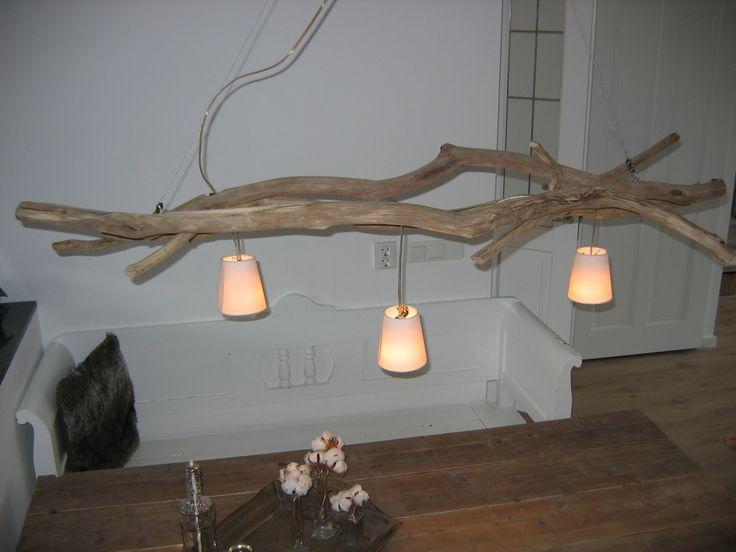 Takkenlamp / light tree wood diy