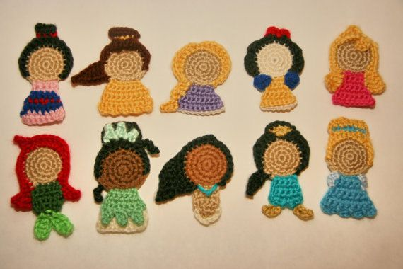 crochet Disney applique patterns: Princesses Sconces, Tales Appliques, Disney Princesses, Applique Patterns, Crochet Disney, Crochet Patterns, Disney Wall, Fairies Tales, Wall Hook