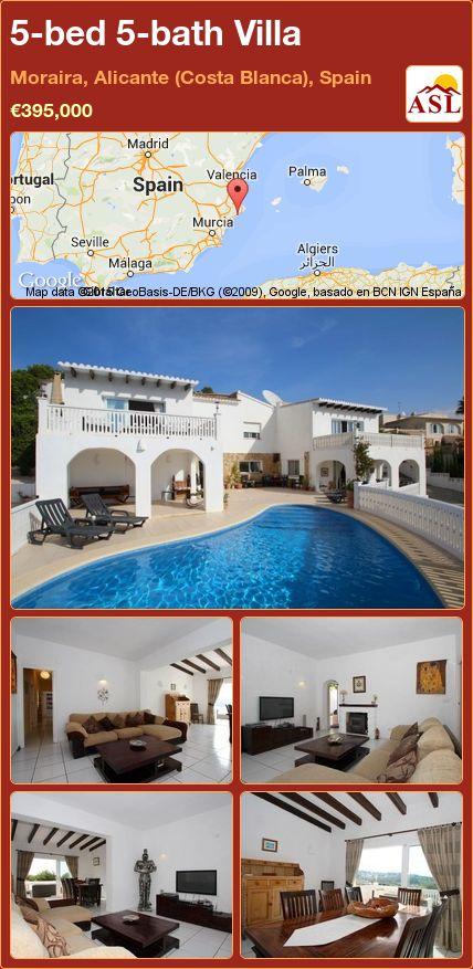 5-bed 5-bath Villa in Moraira, Alicante (Costa Blanca), Spain ►€395,000 #PropertyForSaleInSpain